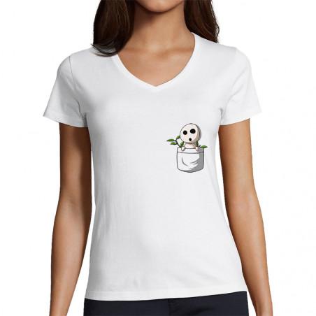 """T-shirt femme col V """"Save..."""