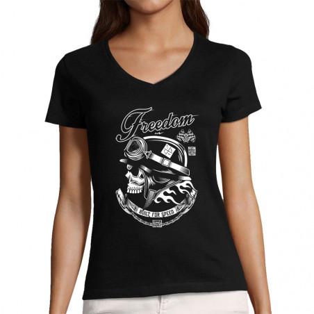 """T-shirt femme col V """"Copper..."""