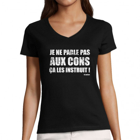 "T-shirt femme col V ""Je ne..."