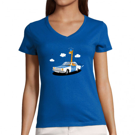 """T-shirt femme col V """"Girofar"""""""