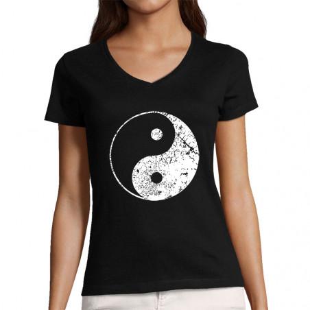 "T-shirt femme col V ""Ying..."