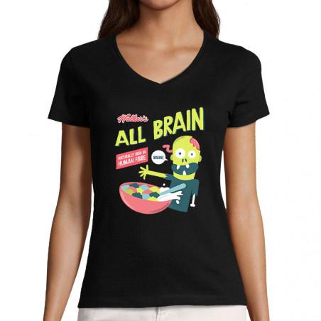 "T-shirt femme col V ""All..."