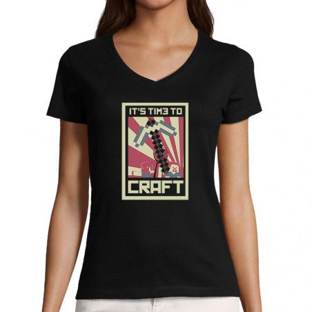 """T-shirt femme col V """"It's..."""