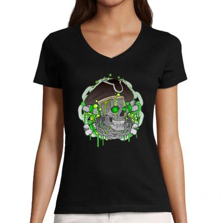 """T-shirt femme col V """"Acid..."""
