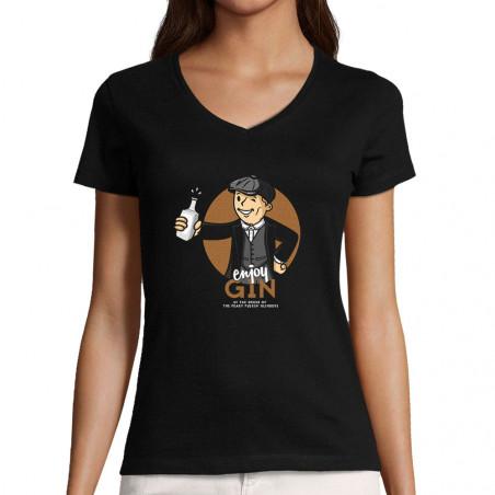 """T-shirt femme col V """"Enjoy..."""