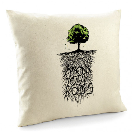 "Coussin ""Know Your Roots"""