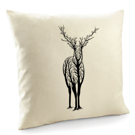 "Coussin ""Deer Trees"""