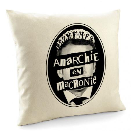 "Coussin ""Anarchie en Macronie"""