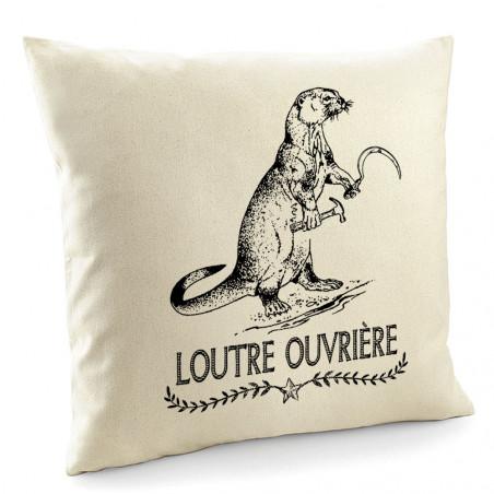 """Coussin """"Loutre Ouvrière"""""""