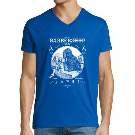 """T-shirt homme col V """"Barber..."""