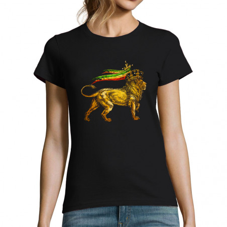 """T-shirt femme """"Rasta Lion"""""""