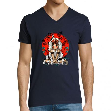 """T-shirt homme col V """"Forest..."""