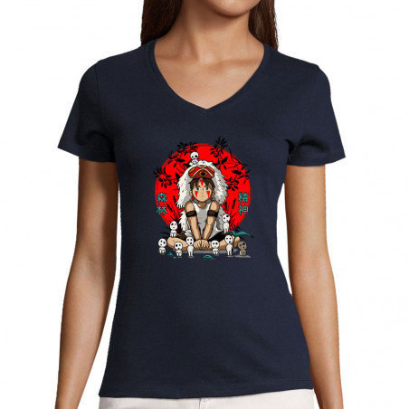 """T-shirt femme col V """"Forest..."""