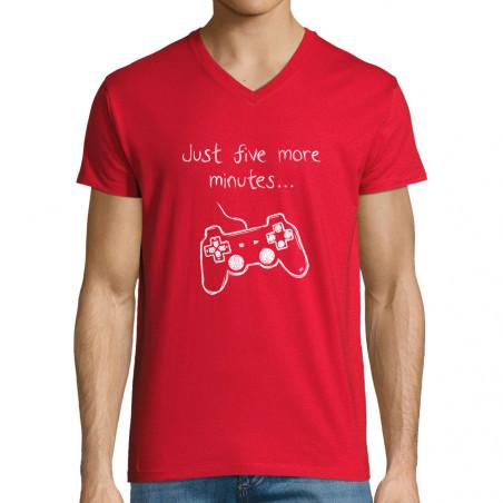 "T-shirt homme col V ""Five..."
