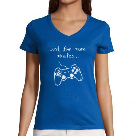 """T-shirt femme col V """"Five..."""