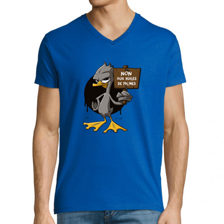 "T-shirt homme col V ""Non..."