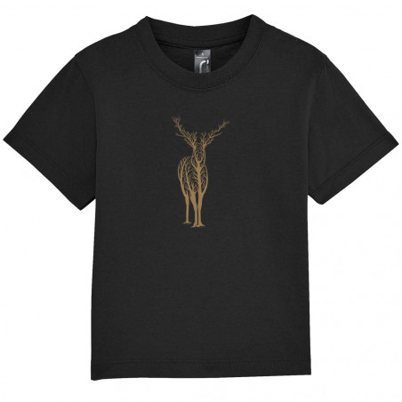 "Tee-shirt bébé ""Deer Trees"""