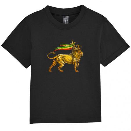 "Tee-shirt bébé ""Rasta Lion"""
