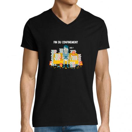 """T-shirt homme col V """"Déjà"""""""