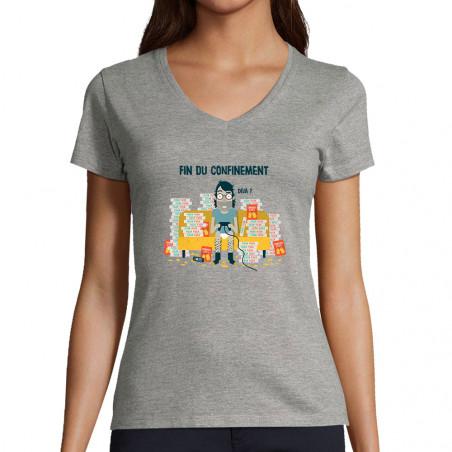 """T-shirt femme col V """"Déjà"""""""