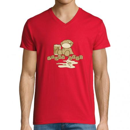 "T-shirt homme col V ""Teddy..."