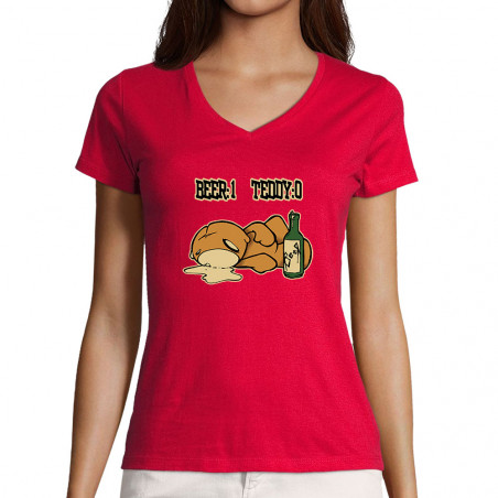 """T-shirt femme col V """"Beer 1..."""
