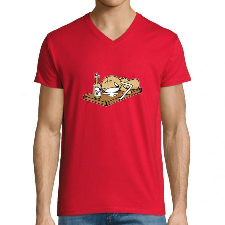 "T-shirt homme col V ""Puppet..."