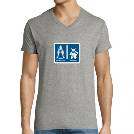 "T-shirt homme col V ""Toilet..."