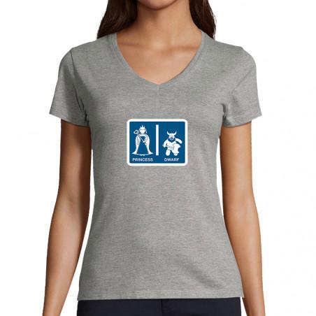 "T-shirt femme col V ""Toilet..."