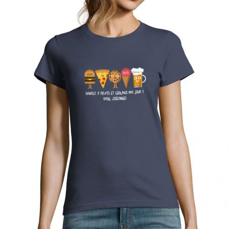 "T-shirt femme ""Mangez 5..."
