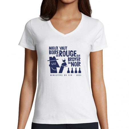 "T-shirt femme col V ""Mieux..."