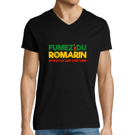 "T-shirt homme col V ""Fumez..."