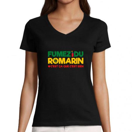 """T-shirt femme col V """"Fumez..."""
