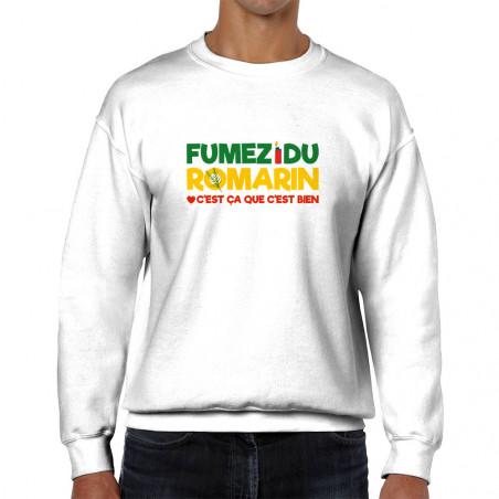 "Sweat homme col rond ""Fumez..."