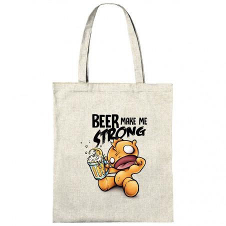 """Sac shopping en toile """"Beer..."""
