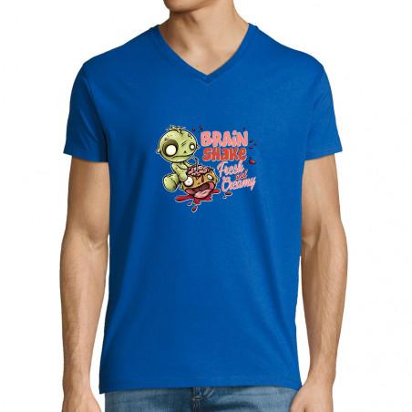 "T-shirt homme col V ""Brain..."