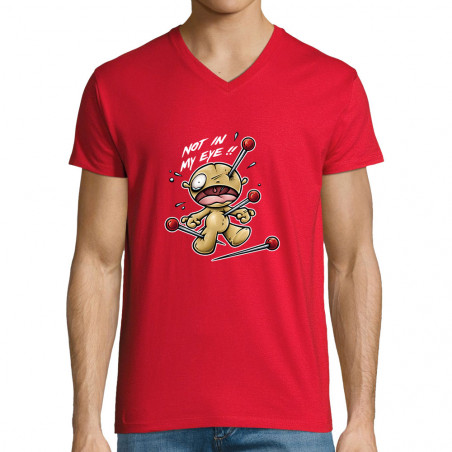 """T-shirt homme col V """"Not in..."""