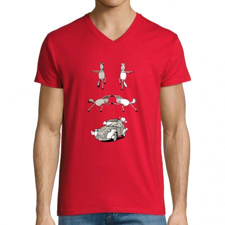 "T-shirt homme col V ""2cv..."
