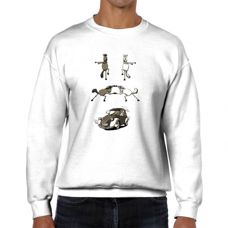 """Sweat homme col rond """"2cv..."""
