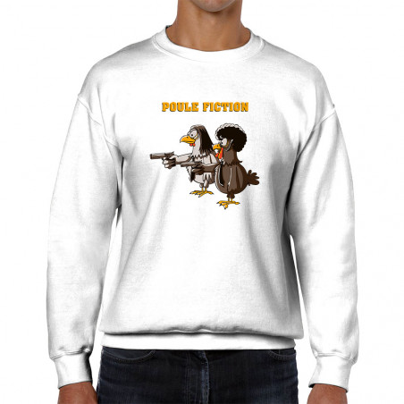 "Sweat homme col rond ""Poule..."