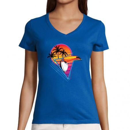 "T-shirt femme col V ""Rétro..."