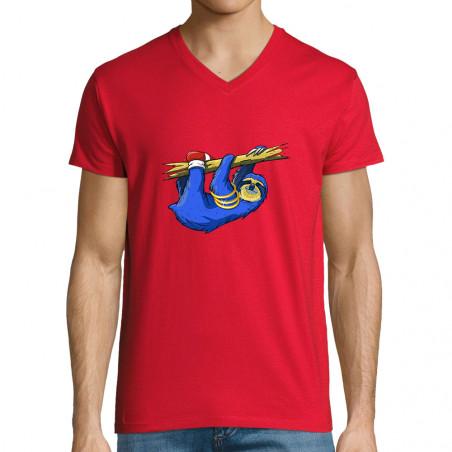 "T-shirt homme col V ""Slonic"""