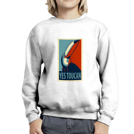 "Sweat enfant col rond ""Yes..."