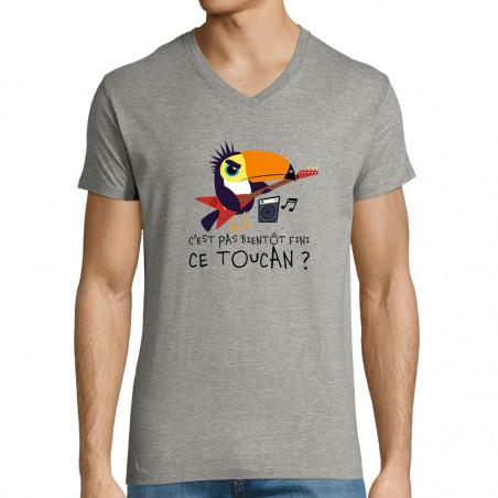 "T-shirt homme col V ""Fini..."