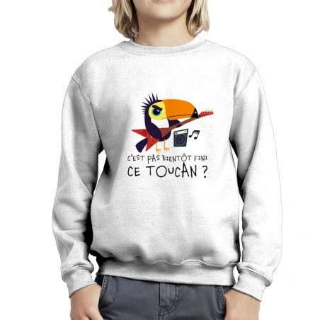 "Sweat enfant col rond ""Fini..."