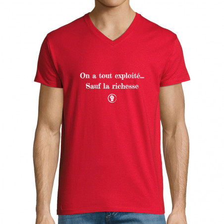 "T-shirt homme col V ""On a..."