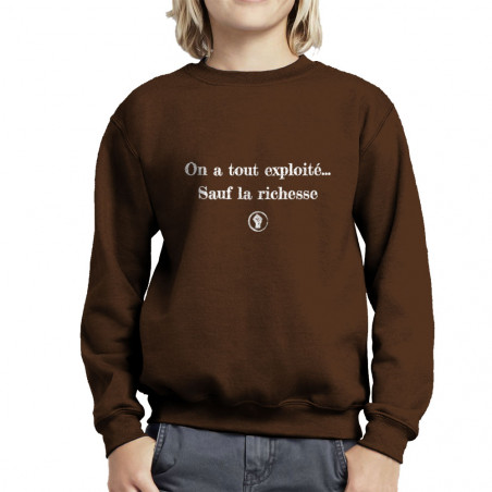 "Sweat enfant col rond ""On a..."