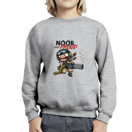 "Sweat enfant col rond ""Noob..."