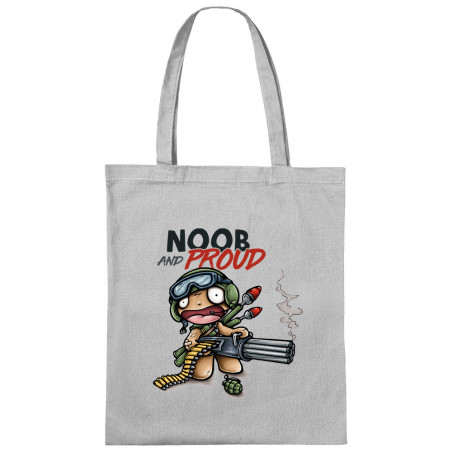 "Sac shopping en toile ""Noob..."
