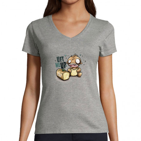 "T-shirt femme col V ""Space..."